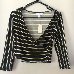 NWT SWS Long Sleeve Stripe Top Size Medium